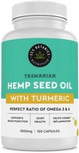 ECS Botanics Hemp Seed Oil Capsules w/Turmeric 120Caps