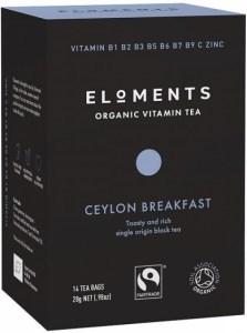 Eloments Organic Vitamin Tea Ceylon Breakfast 14Teabags