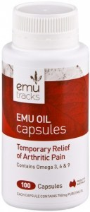 Emu Tracks Emu Oil 750mg 100 Capsules