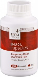 Emu Tracks Emu Oil 750mg 250 Capsules