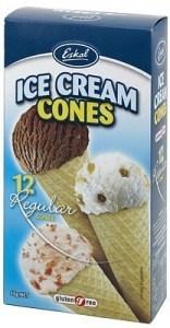 Eskal Ice Cream Cones 12Pck 45g