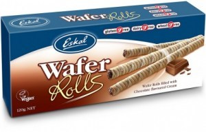 Eskal Wafer Rolls filled with Chocolate Flavoured Cream  120g