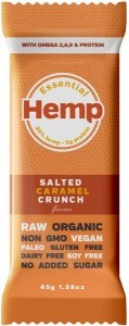 Essential Hemp Salted Caramel Crunch Bars 12x45g