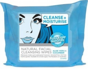 Essenzza Fuss Free Facial Cleanse Wipes Moisturise 25Pk