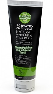 Essenzza Fuss Free Naturals Activated Charcoal Natural Whitening Toothpaste Peppermint 113g