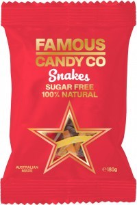 Famous Candy Co Sugar Free Snakes  180g