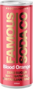 Famous Soda Cans Blood Orange Pack 4x250ml