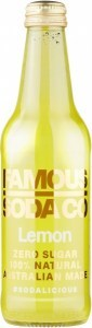 Famous Soda Co Sugar Free All Natural Lemon Soda 12x330ml
