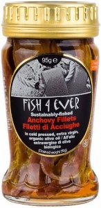 Fish 4 Ever Anchovies in Olive Oil  Jar 95g