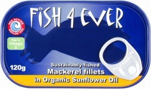 Fish 4 Ever Mackerel Fillets in Sunflower Oil 120g