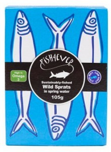 Fish 4 Ever Sardines (Brisling) in Spring Water  105g