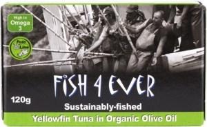 Fish 4 Ever Yellowfin Tuna in Olive Oil 120g