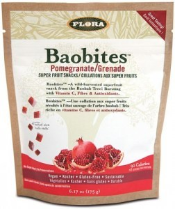 Flora Baobites Pomegranate Baobab Super Fruit Snack 175g