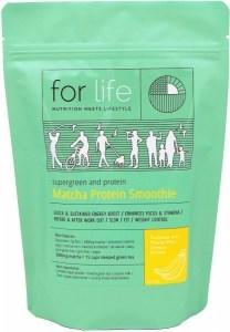 For Life Matcha Protein Smoothie Powder Banana 500g