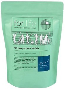 For Life Raw Pea Protein Isolate Powder Natural 510g