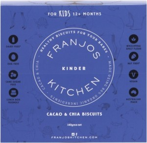 Franjo's Kitchen Cacao & Chia Kinder Biscuits 144g