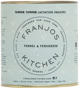 Franjo's Kitchen Fennel & Fenugreek Tanker Topper Lactation Crackers 280g