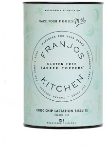 Franjo's Kitchen  Choc Chip Tanker Topper Lactation Biscuits 252g