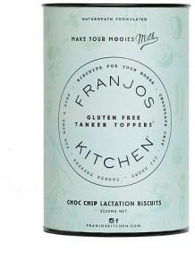 Franjo's Kitchen Choc Chip Gluten Free Tanker Topper Lactation Biscuits 252g