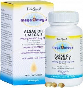 Free Spirit MegaOmega Algae Oil Omega-3  60Softgels