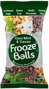 Frooze Balls Raw Energy Snack Balls Cool Mint & Cacao (5balls)  70g