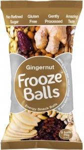 Frooze Balls Raw Energy Snack Balls Gingernut (5balls)  70g