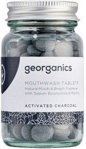 Georganics Mouthwash Tablets Activated Charcoal 180tabs