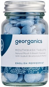 Georganics Mouthwash Tablets English Peppermint 180tabs