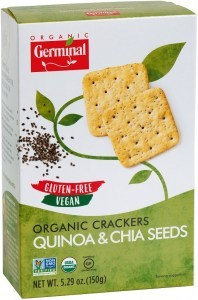 Germinal Organic Crackers Quinoa & Chia Seeds  150g