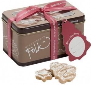 Gingerbread Folk Christmas Miniatures Cookies in Tin 200g