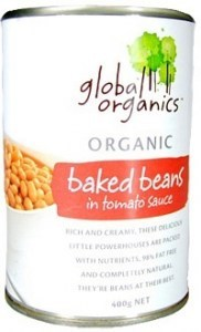 Global Organics Baked Beans in Tomato Sauce 400g