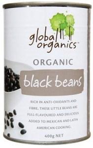 Global Organics Black Beans 400g