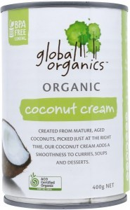 Global Organics Coconut Cream  400g Can