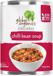 Global Organics Organic Chilli Bean Soup 400g