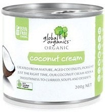 Global Organics Organic Coconut Cream  200g Can