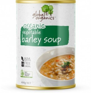 Global Organics Vegetable Barley Soup Can 400g