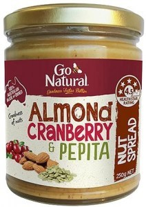 Go Natural Almond Cranberry & Pepita Nut Spread 250g
