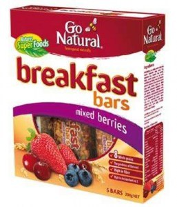 Go Natural Breakfast Bar Mixed Berries 200g