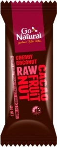 Go Natural Cherry Coconut Raw Cacao Fruit Nut  12x40g