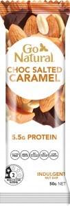 Go Natural Choc Salted Caramel Bars 16x40g