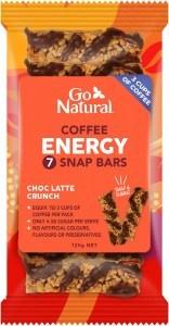 Go Natural Coffee Energy Choc Latte Crunch 7 Snap Bars 120g