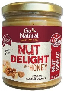 Go Natural Nut Delight with Honey Nut Spread 250g