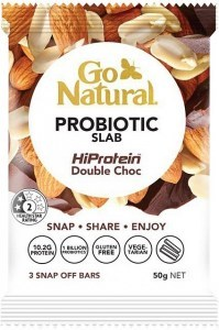 Go Natural Probiotic Slab HiProtein Double Chocolate 10x50g