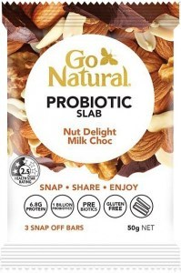 Go Natural Probiotic Slab Nut Delight Milk Chocolate 10x50g