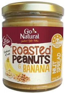Go Natural Roasted Peanuts & Banana Nut Spread 250g