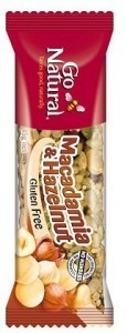 Go Natural Savoury Macadamia & Hazelnut Bar 16x45g