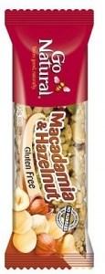 Go Natural Savoury Macadamia & Hazelnut Bar 16x45g