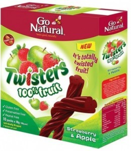Go Natural Twisters Strawberry & Apple  180g