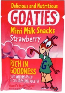 Goaties Mini Milk Snacks Strawberry 24x10g