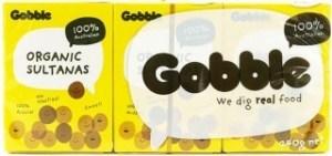 Gobble Organic Sultanas SnaBox (6x35g) 210g